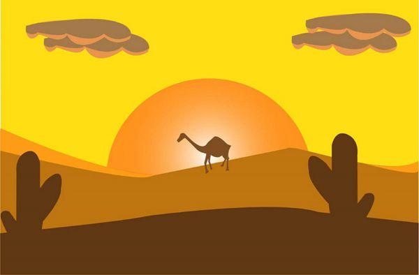 沙漠卡通画图片_WWW.171ZZ.NET